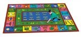 Spanish Carpet (Joy Carpets Kid Essentials Language & Literacy Spanish LenguaLink Rug, Multicolored, 7'8