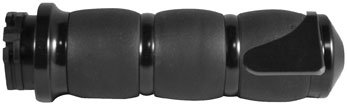 (Avon Grips Black Anodized H-D with Throttle Slide Velvet Air Cushion Grips with)