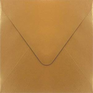 Stardream Antique Gold 5 x 5 Euro Flap Square Envelope - 250 ()