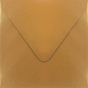 Stardream Antique Gold 5 x 5 Euro Flap Square Envelope - 250 - Envelopes Antique 250