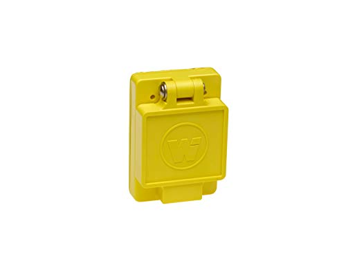 - Woodhead 69W76 Watertite Wet Location Locking Blade Receptacle, 3-Phase, Single Flip Lid, Female, 4 Wires, 3 Poles, NEMA L16-30 Configuration, Yellow, 30A Current, 480V Voltage