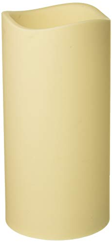 Everlasting Glow 42884 6x12 H LED Out. Pillar, Bisque Christmas, 6InL x 6InW x 12InH, White
