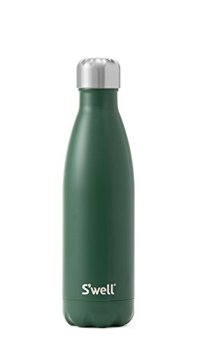 S'well Vacuum Insulated Stainless Steel Water Bottle, 17 oz, Hunting Green