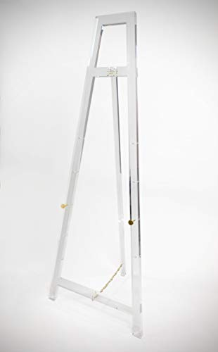 - Designstyles Decorative Acrylic Easel Stand - Adjustable Floor Display for Art Pieces, Signs, Mirrors and Chalk/Dry Erase Boards - 58
