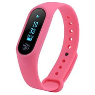 Mini Electronics Pink Smart Bracelet Watch Wristband Bluetooth Heart Rate Monitor Fitness Tracker Estimated Price £19.99 -