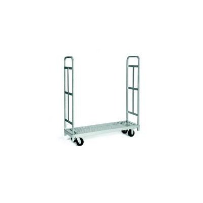 Raymond 3986 Steel Heavy Duty Narrow Panel Sheet Mover Platform Truck with 2 Uprights and 5