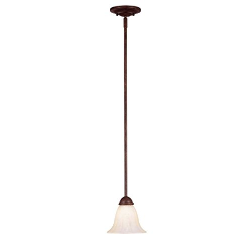 Savoy House KP-7-5009-1-40 Mini Pendant with Cream Marble Shades, Walnut Patina (Walnut Patina Finish)