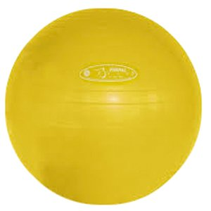 Fitball Wedge (FitBALL Yellow Exercise Ball, 75cm - With Pump)