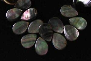Briolette Of Bead Mother Pearl (Sample of 7 Beads of Tahitian Mother of Pearl Shell Flat Briolette Beads 9911 Spacer Beads and Roll Crystal String for Bracelets Jewelry Making)