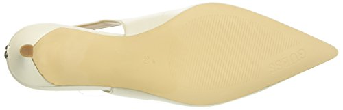 Ivory Guess Punta Back Footwear Chiusa Sling Donna Dress Tacco col Avorio Scarpe qxUPqTrfw