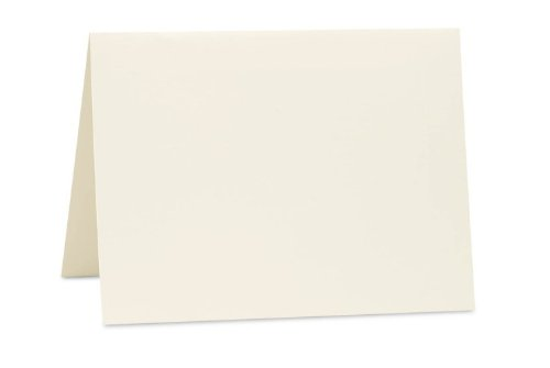 A6 Folded Card (4 5/8 x 6 1/4) - Natural (1000Qty) | Perfect for Personal Stationery, Invitation Suite Inserts, Casual Correspondence and much more! | A6FN-1M