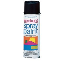 Weekend Spray Paint (11-OZ. GLOSS WHITE WEEKEND SPRAY PAINT INTER)