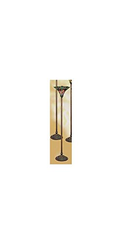 Warehouse of Tiffany's 1509-BB75B Dragonfly Tiffany-Style 72-Inch Torchiere Lamp Dragonfly Tiffany Torchiere Lamp