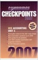 Cambridge Checkpoints VCE Accounting Unit 3 2007