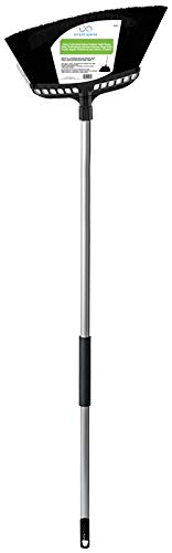 CleanX 2032X Jumbo Indoor/Outdoor Heavy Duty Angle Broom with Grip Handle, 15 Inch Sweep Range, Silver/Black by Mintcraft