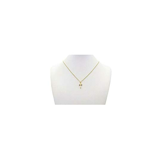 Tiny Gold Cross Pendant Necklace 18K Gold Plated Delicate Cute Minimalist Necklaces Simple Jewelry for Women Girls