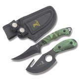 Elk Ridge Hunting Knife Two-Piece Set, 7-Inch Straight Edge and 6.5-Inch Gut Hook Blades by Elk Ridge