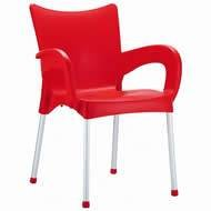 Compamia Romeo Stacking Dining Arm Chair [Set of 4] Finish: Red (Outdoor Chair Romeo)