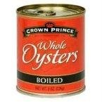 Crown Prince Boiled Whole Oysters -- 8 oz (Boiled Oysters)