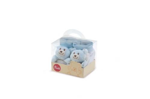 Trudy Rattle Booties (Blue)