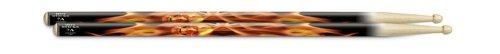 Hotsticks Artisticks Wood Tip 7A Drumsticks - Flaming - Flaming Drums