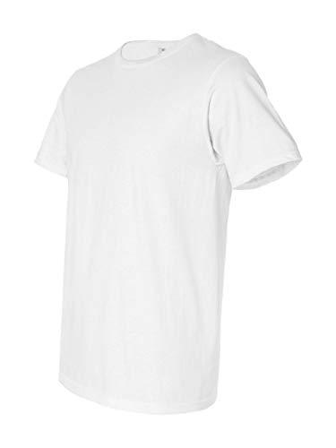 Anvil Slim T-shirt - Anvil Organic Ringspun/recycled Polyester T-shirt - White - Xs