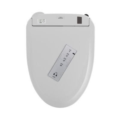 Toto S300e Elongated Bidet Seat SW574T20#01 Cotton White With Remote Control