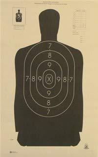 CHLTargets Official NRA B-29 Shooting Target Police Silhouette ()