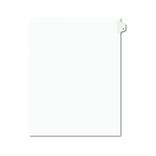 Avery Individual Legal Exhibit Dividers, Avery Style, 1, Side Tab, 8.5 x 11 inches, Pack of 25 (11911) ()