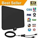2019 Latest Amplified Hd Digital Tv Antenna 60 95 Mile Range Support 4k Hd Vhf Uhf Freeview Television Local Channels W Detachable Signal Amplifier And 13 3ft Longer Coax Cable