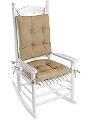 (Klear Vu Indoor/Outdoor Rocking Chair Pad Set Husk Birch)