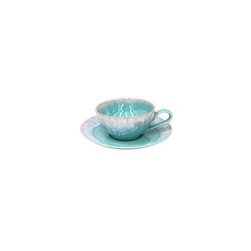 Casafina Taormina Tea Cup & Saucer 7 oz, Aqua -