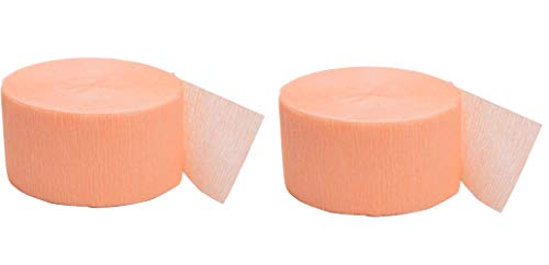 Unique Industries 81ft Crepe Paper Streamer Roll (Coral, 2 Pack) -