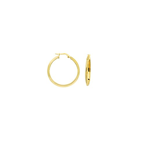 14k Yellow Gold Large High Polished Triangle Tube Hoop Earrings 14k Yellow Gold Triangle Hoop