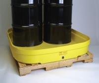 Eagle 1638 4 Drum Budget Basin, 66 Gallon Capacity, 52-1/2'' Length x 51-1/2'' Width x 7'' Height