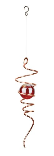 Red Carpet Studios Cyclone Copper Tail Wind Spinner with Red Marble ()