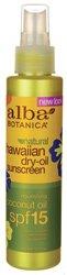 Alba Botanica Dry Tanning Oil SPF 15 -- 4.5 fl oz