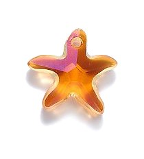 Facet Beads Crystal 16 (Swarovski 6721 Starfish Beads, Crystal Effects, Astral Pink, 16mm, 2 Per Pack)