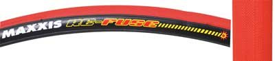 Maxxis Re-Fuse Tire, 700 x 23c, Folding, Red/Black (Tire Kevlar Belted)