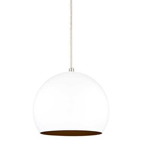 (Rollino Pendant Light | White Pendant Lighting for Kitchen Island LL-P408-10WH)