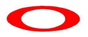 """Oakley O decal sticker 6""""- mulitple colors (red)"""