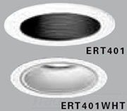 "All-Pro ERT401 High Gloss Appliance Trim Ring with Black Baffle, 4"", White"