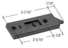 CRL Black Tilt Window Latch; 2-5/16