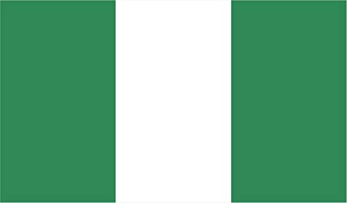 JB Print Magnet Nigeria Flag Vinyl Decal Sticker Car Waterproof Car Decal Magnetic Bumper Sticker 5