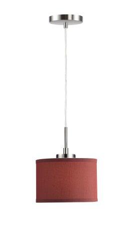 Woodbridge Lighting 13323STN-S10803 1-Light Mini Pendant, 8-Inch by 84-Inch Maximum, Satin Nickel (Pendant Nickel Satin Drum)