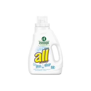 amazon com all liquid laundry detergent free clear he 50 oz