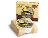 (American Expeditions Goldfinch Stone Coasters (4))