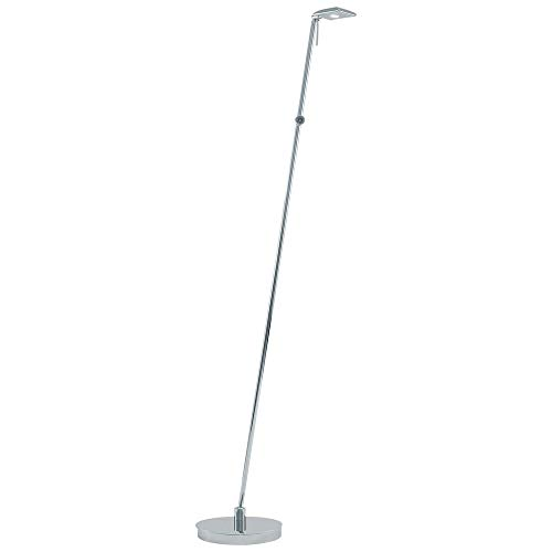 George Kovacs P4324-077, Georges Reading Room Dimming Glass Swing Arm Floor Lamp, LED, Chrome