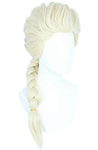 LeMarnia Womens Wigs Blonde Long for Elsa Wig Cosplay Costume Halloween Party Wig