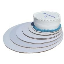 Boxit Mottled White Cake Circle, 18 inch -- 100 per case.